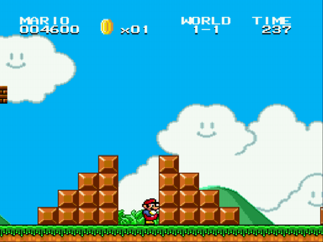 Super Mario Bros II 1998 (hack) - Stuck in hard blocks - User Screenshot