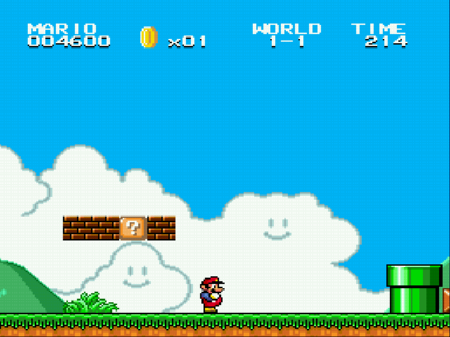 Super Mario Bros II 1998 (hack) - End bricks and 1 pipe - User Screenshot