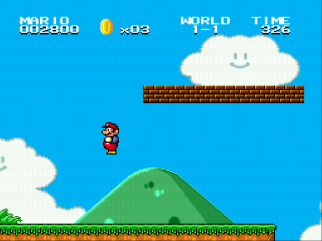 Super Mario Bros II 1998 (hack) - MARIO IS FLYING - User Screenshot