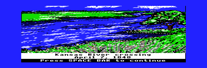 The Oregon Trail - At the Kansas - User Screenshot