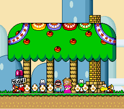 Super Mario World - lol the yoshis looked freaked out - User Screenshot
