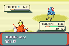 Pokemon Emerald - Battle  - MAGIKARP, HOWL!!! - User Screenshot