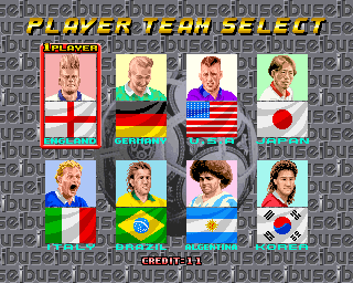 Seibu Cup Soccer (set 1) - Character Select  -  - User Screenshot