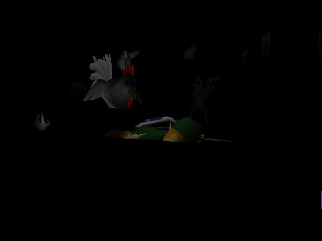 The Legend of Zelda - Ocarina of Time - Gameover  - Death By Chicken - User Screenshot