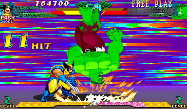 Marvel Super Heroes Vs. Street Fighter (Euro 970625) - THIS IS NO TIME FOR BREAK DANCING!! - User Screenshot