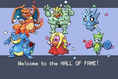 Pokemon Shiny Gold - Ending  - My hall of fame team! - User Screenshot