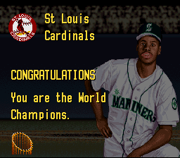 Ken Griffey Jr. Presents Major League Baseball - Cardinals swept Mariners. - User Screenshot