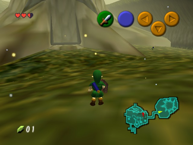 The Legend of Zelda - Ocarina of Time - Level  - ack old man mouth (tree).... - User Screenshot