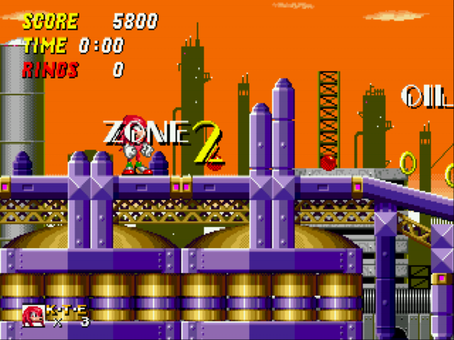 Sonic and Knuckles & Sonic 2 - oil zone 2 - User Screenshot