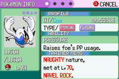 Pokemon Rebirth - Character Profile  - Caught him at full health on first try! - User Screenshot