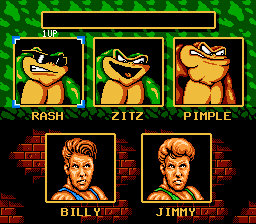 Battletoads & Double Dragon - The Ultimate Team - Character Select  -  - User Screenshot