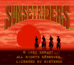 Sunset Riders - Introduction  -  - User Screenshot