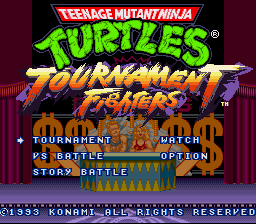 Teenage Mutant Ninja Turtles - Tournament Fighters - Introduction  -  - User Screenshot