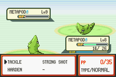 Pokemon Fire Red - Battle  - Nuuuuuuuu!!!!!! - User Screenshot