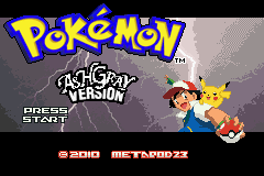 Pokemon Ash Gray (beta 2.5z) - Introduction  - Title screen - User Screenshot