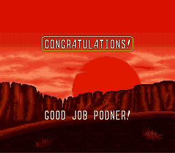 Sunset Riders - Ending  - thank you save states - User Screenshot
