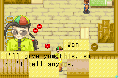 Harvest Moon - More Friends of Mineral Town - Cut-Scene  - Won trying to bribe me - User Screenshot