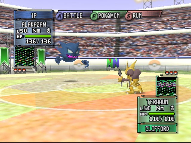 Pokemon Stadium 2 - Battle  - Woah, haunter is HUGE. - User Screenshot