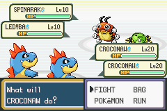 Pokemon Shiny Gold - Misc Glitch - Lol two Croconaw Glitch - User Screenshot