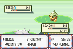 Pokemon Emerald - Battle  - seedot is very strong but i think i will win - User Screenshot