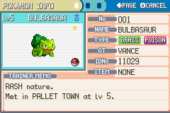 Pokemon Ultra Violet - OHH YEAHH!! SHINY BULBASAUR!!! - User Screenshot