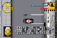 Grand Theft Auto Advance - vigilante... whom - User Screenshot