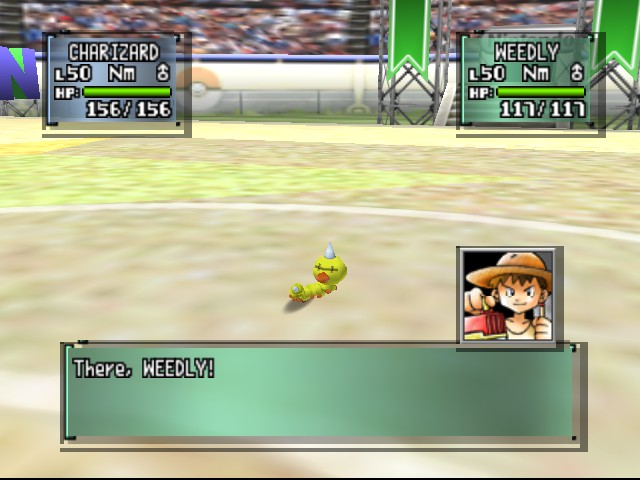 Pokemon Stadium 2 - Battle  - That weedle does NOT look good... - User Screenshot