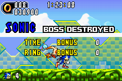 Sonic Advance 2 - Sonic:OWOWOWOW GET OF GET OF GET OFF! - User Screenshot