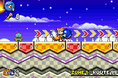Sonic Advance 3 - Tails:I won a blue ball at the fair!Sonic:No - User Screenshot