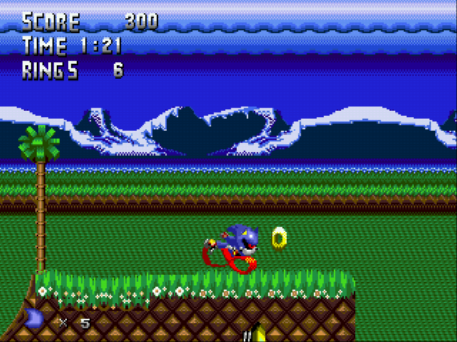 Metal Sonic Hyperdrive - Menus character - is this normal?!? - User Screenshot