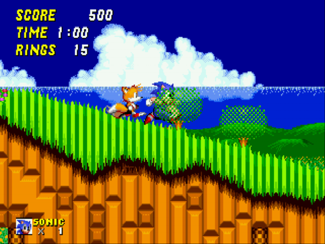 Sonic 2 XL - Level  - Tails:COME ON!YOU CAN DO IT!!FEEL THE BURN!! - User Screenshot
