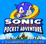 Sonic the Hedgehog - Pocket Adventure - Introduction  - title screen=sonic 3 intro with modern sonic - User Screenshot