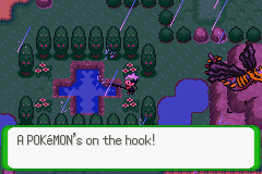 Pokemon Flora Sky - Complement Dex Version - Level  - Just me, fishing while two gods duke it out. - User Screenshot