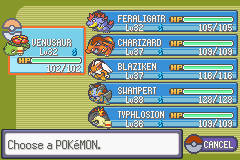 Pokemon Rebirth - Character Select  - my new team :D - User Screenshot