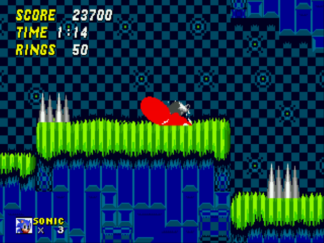 Sonic 2 EXE - Level Hill Zone - Bloody spindash - User Screenshot