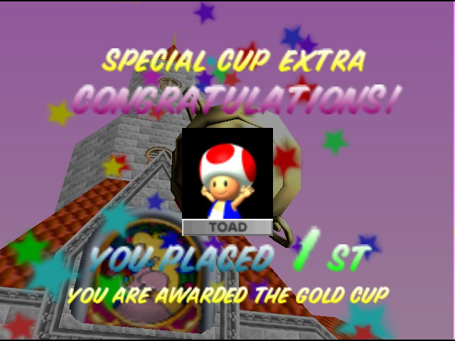 Mario Kart 64 - Ending  - Nobody can beat me, not even u! - User Screenshot