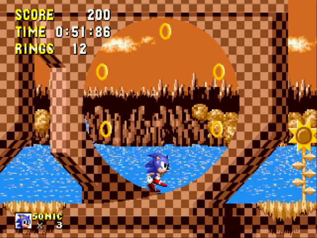 Sonic 1 Megamix - 2X donut rings?????!!!!!!!!!!!!  - User Screenshot