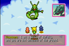 Pokemon Mystery Dungeon - Red Rescue Team - Battle with Raqwuaza!!!!!!! - User Screenshot