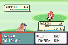 Pokemon Moemon - Battle  - wtf is wrong taillow??? - User Screenshot
