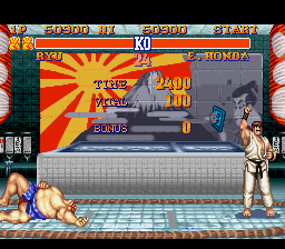 Street Fighter II - The World Warrior - I won with no health?!?! - User Screenshot