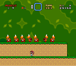 Super Mario World - Level  - Army - User Screenshot