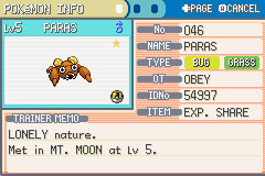 Pokemon Fire Red - Character Profile  - Shiny :D - User Screenshot