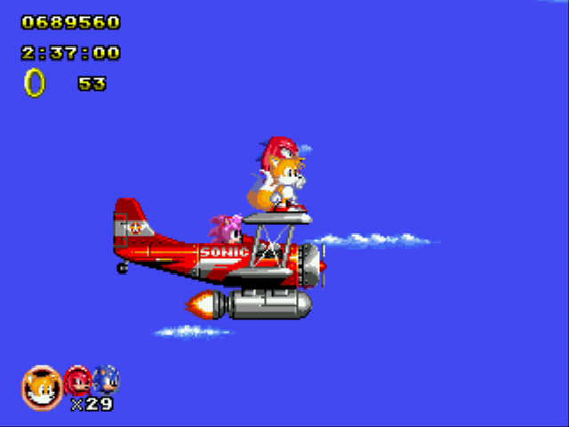 Sonic Classic Heroes - Level Wing Fortress - Oh hi Amy - User Screenshot