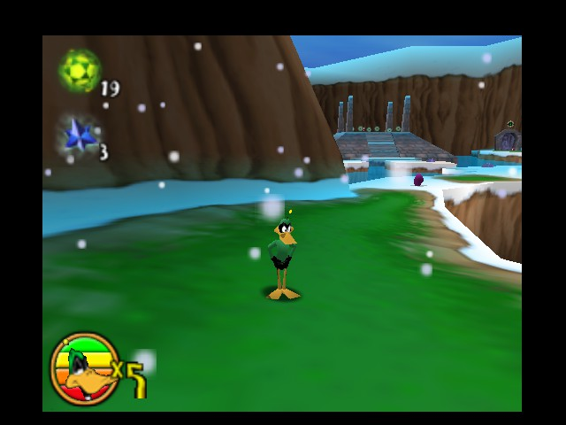 Daffy Duck Starring as Duck Dodgers - Frigid landscape - User Screenshot