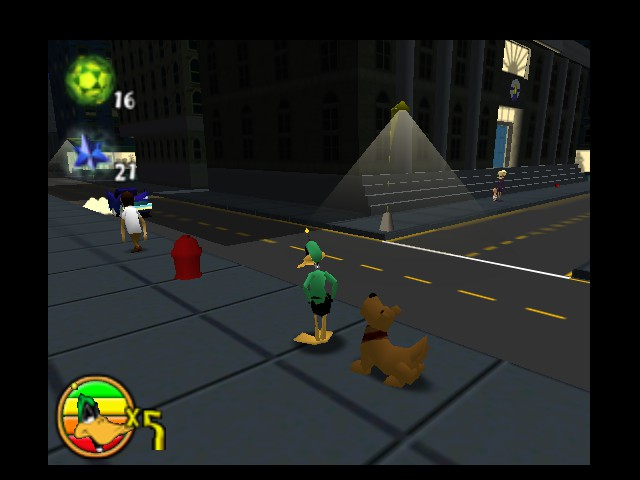 Daffy Duck Starring as Duck Dodgers - Downtown stroll - User Screenshot