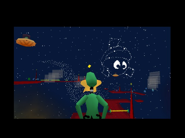 Daffy Duck Starring as Duck Dodgers - Location  - Enjoying the view - User Screenshot