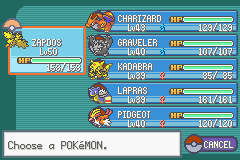 Pokemon Fire Red - Character Profile  -  - User Screenshot