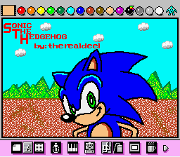 Mario Paint - Sonic for Screenshot Competition #2 - User Screenshot