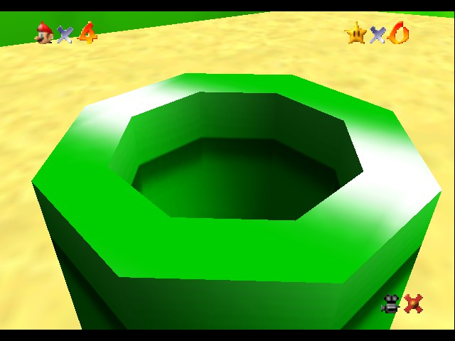 Super Mario 64 - Introduction  - omg that pipe is SOO INTERESTING!! - User Screenshot