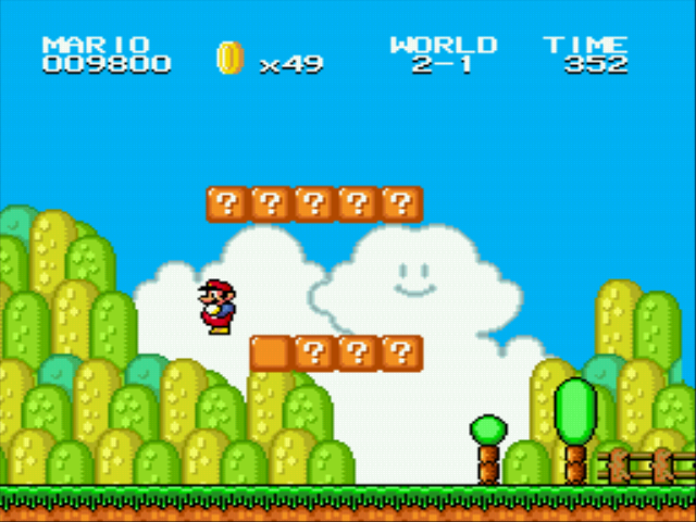 Super Mario Bros II 1998 (hack) - Level  - Gravity! - User Screenshot